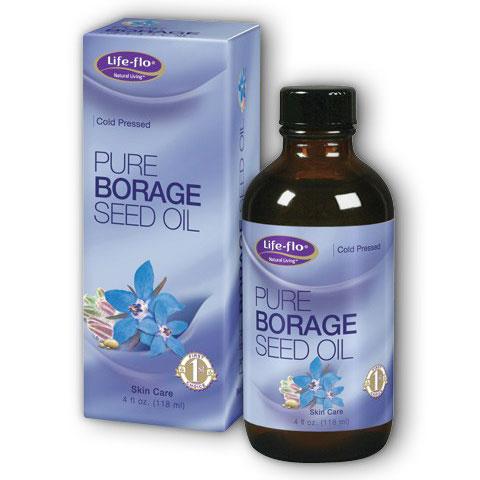 Life-Flo Pure Borage Seed Oil, 4 oz, LifeFlo