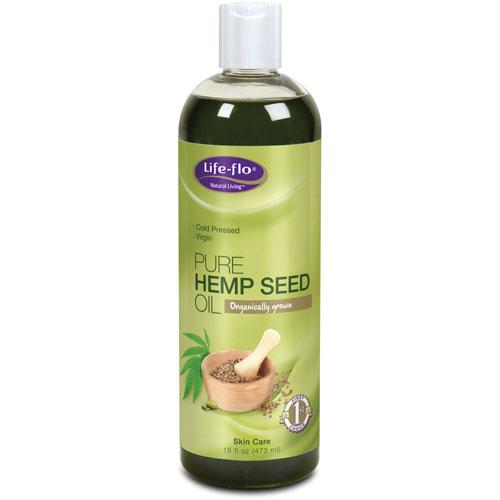 Life-Flo Pure Hemp Seed Oil Liquid, 16 oz, LifeFlo