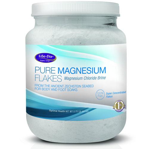 Life-Flo Pure Magnesium Flakes, Magnesium Chloride Brine, 44 oz, LifeFlo