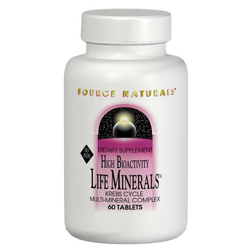 Life Minerals No Iron Multi Mineral Complex 60 tabs from Source Naturals