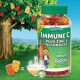 Lil Critters Immune C Plus Zinc & Echinacea, Immune Booster for Children, 200 Gummy Bears