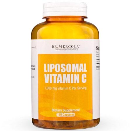 Liposomal Vitamin C, Value Size, 180 Capsules, Dr. Mercola