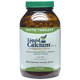 Liquid Calcium 1000 mg with Magnesium 400 mg, 180 Softgels, Phyto-Therapy (Phyto Therapy)