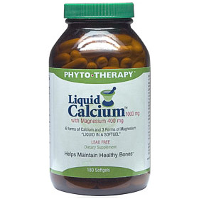 Liquid Calcium 1000 mg with Magnesium 400 mg, 90 Softgels, Phyto-Therapy (Phyto Therapy)