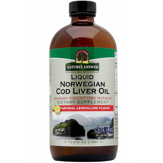 Liquid Norwegian Cod Liver Oil 16 oz from Natures Answer