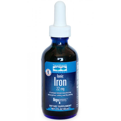 Ionic Iron Liquid, 22 mg, 2 oz, Trace Minerals Research
