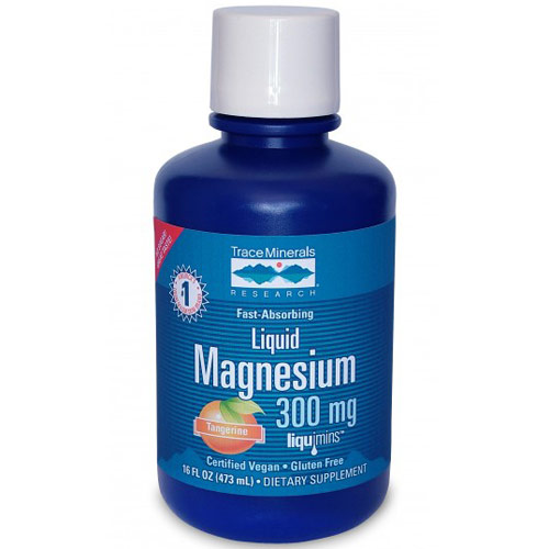 Liquid Magnesium 300 mg, 16 oz, Trace Minerals Research