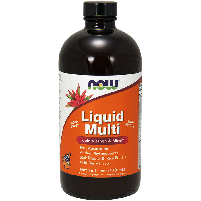 Liquid Multi - Wild Berry, Vegetarian Non-GE, 16 oz, NOW Foods