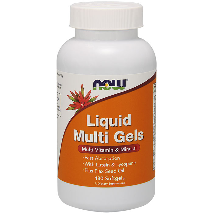 Liquid Multi Gels, Multi Vitamin & Mineral, 180 Softgels, NOW Foods