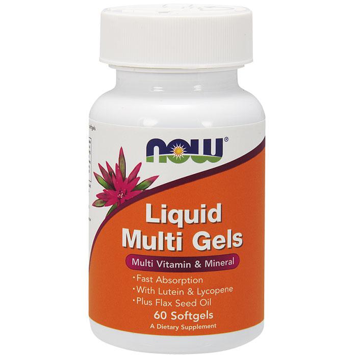 Liquid Multi Gels, Multi Vitamin & Mineral, 60 Softgels, NOW Foods