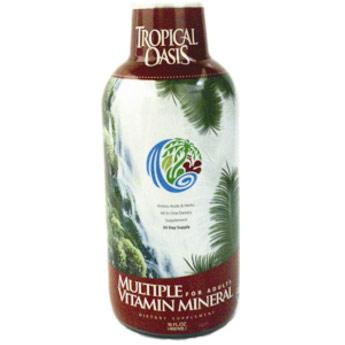 Liquid Multi Vitamins & Minerals, with Amino Acids & Herbs, 16 oz, Tropical Oasis