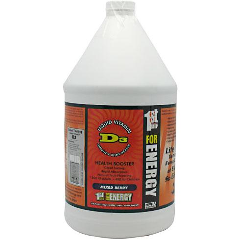 HPF Vitamin D3 Liquid (Great Tasting Vitamin D), 1 Gallon (128 oz), High Performance Fitness