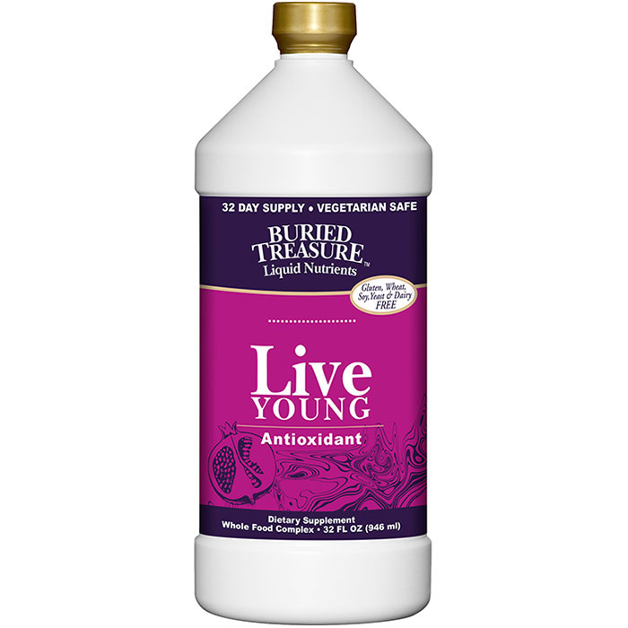 Live Young Antioxidant, Liquid Supplement, 32 oz, Buried Treasure Liquid Nutrients