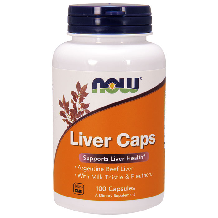 Liver Caps, Liver Extract with Eleuthero & Milk Thistle, 100 Capsules, NOW Foods