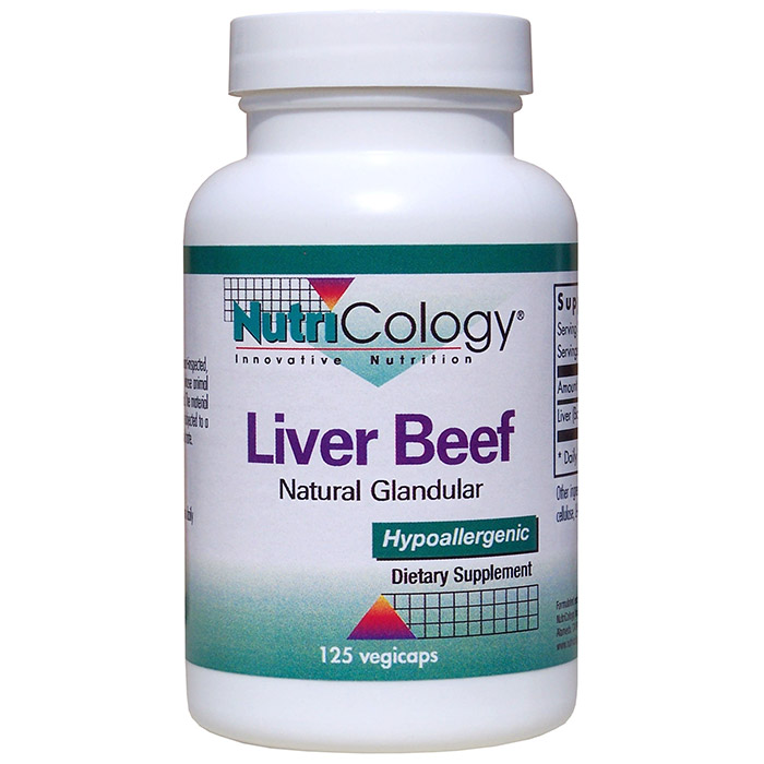 Liver Glandular Organic 500mg 125 caps from NutriCology