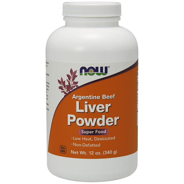 Liver Powder Argentine 12 oz, NOW Foods