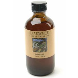 Lobelia Herb Extract Liquid 4 oz, StarWest Botanicals