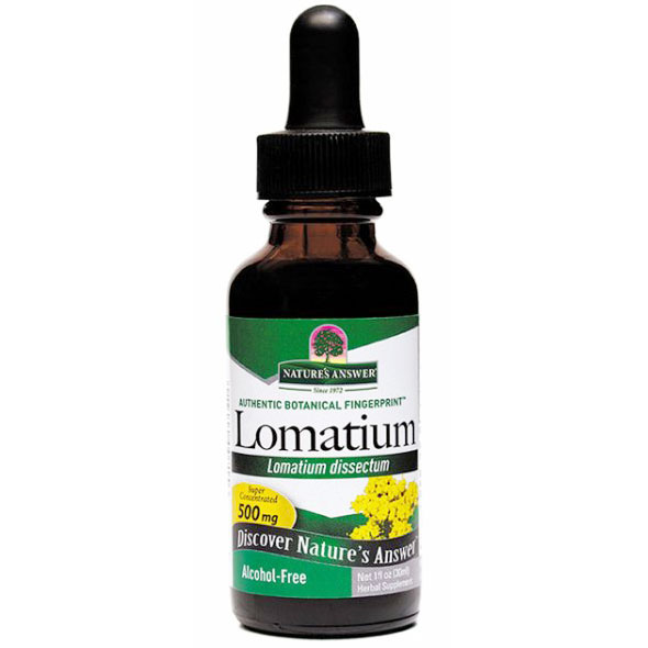 Lomatium Root Alcohol Free Extract Liquid 1 oz from Natures Answer