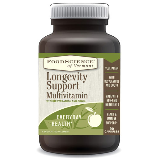 Longevity Support Multivitamin, 90 Capsules, FoodScience Of Vermont