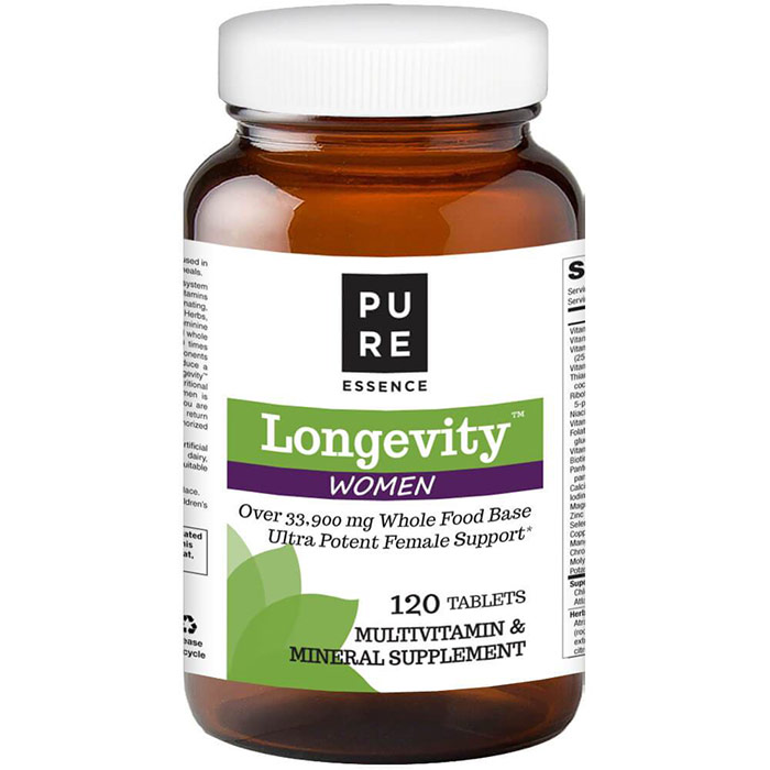Longevity Womens Formula, Anti-Aging Multiple, 120 Tablets, Pure Essence Labs