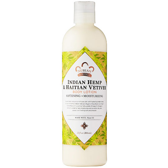 Indian Hemp & Haitian Vetiver Body Lotion, 13 oz, Nubian Heritage