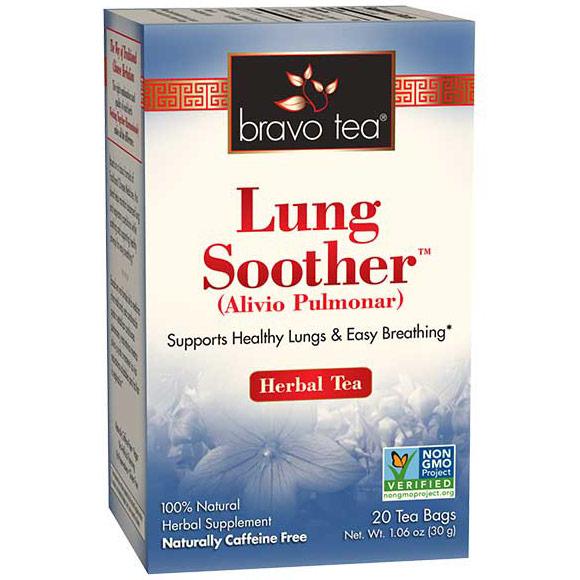 Lung Soother Herbal Tea, 20 Tea Bags, Bravo Tea