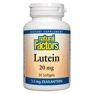 Lutein 20mg 30 Softgels, Natural Factors