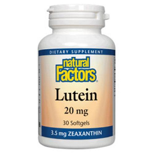 Lutein 20mg 60 Softgels, Natural Factors