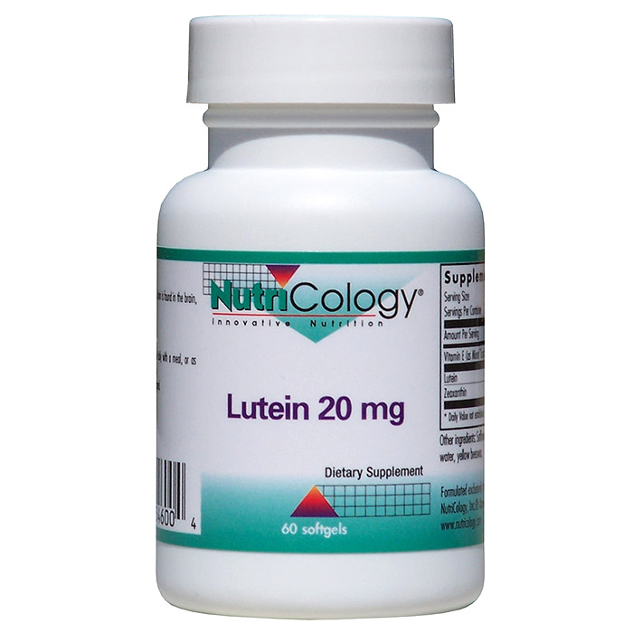 Lutein 20mg 60 softgels from NutriCology