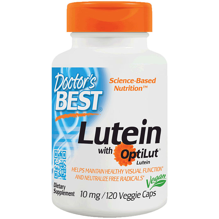 Lutein 10 mg Lutein Esters, 120 Veggie Capsules, Doctors Best