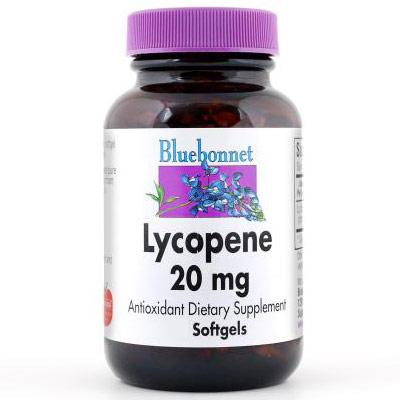 Lycopene 20 mg, 30 Softgels, Bluebonnet Nutrition