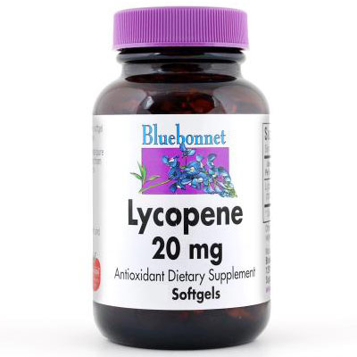 Lycopene 20 mg, 60 Softgels, Bluebonnet Nutrition