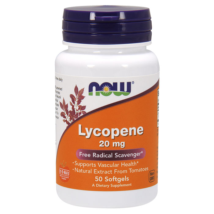 Lycopene 20 mg, 50 Softgels, NOW Foods