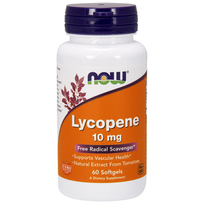 Lycopene Tomato Extract 10 mg 60 Softgels, NOW Foods