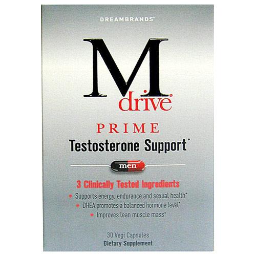 M Drive Prime for Men, Testosterone Support, 30 Vegi Capsules, Dreambrands