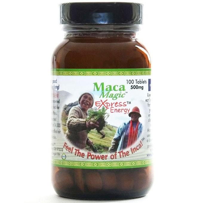 Organic Gelatinized Maca Express Energy 500 mg, 100 Tablets, Maca Magic