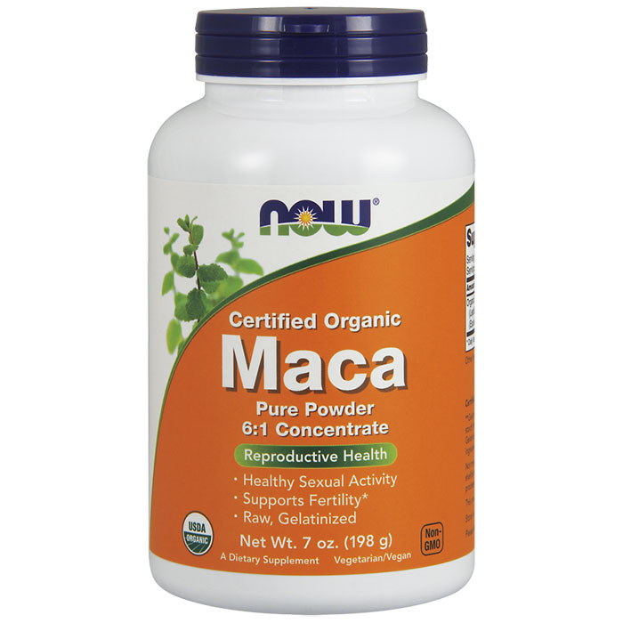 Organic Maca Powder, 6:1 Concentrate, 7 oz, NOW Foods