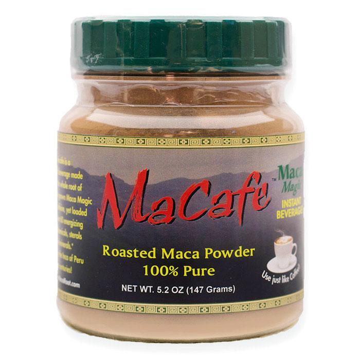 MaCafe Roasted Maca Powder Drink Mix, Coffee Alternative, 5.2 oz, Maca Magic