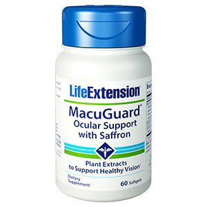 MacuGuard Ocular Support with Saffron, 60 Softgels, Life Extension