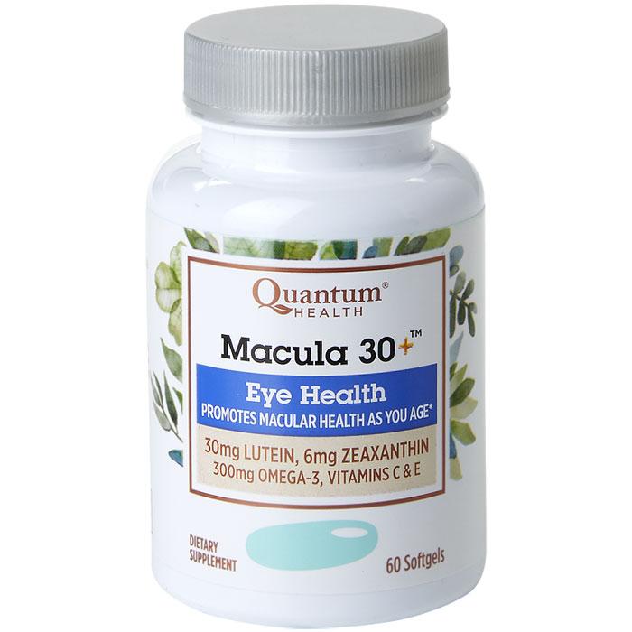 Macula 30+, Macular Health, 60 Softgels, Quantum Health