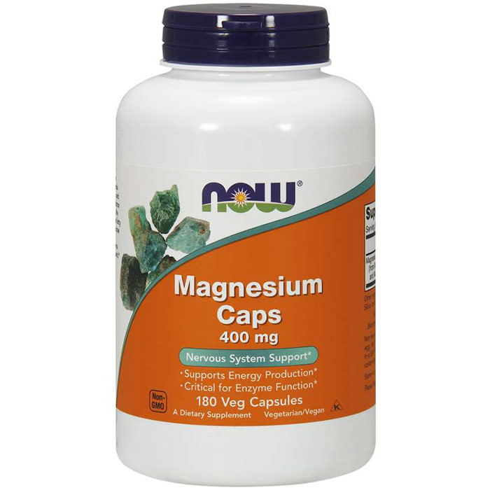 Magnesium Caps 400 mg, 180 Capsules, NOW Foods