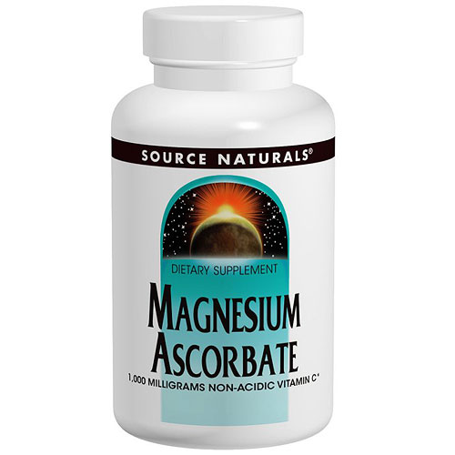 Magnesium Ascorbate 1000 mg, 120 Tablets, Source Naturals