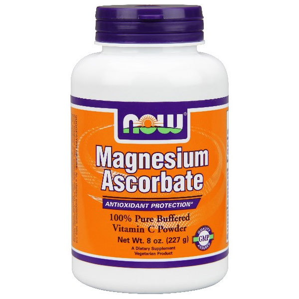 Magnesium Ascorbate Powder, 8 oz, NOW Foods