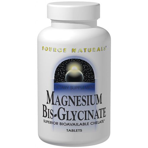 Magnesium Bis-Glycinate, 120 Tablets, Source Naturals