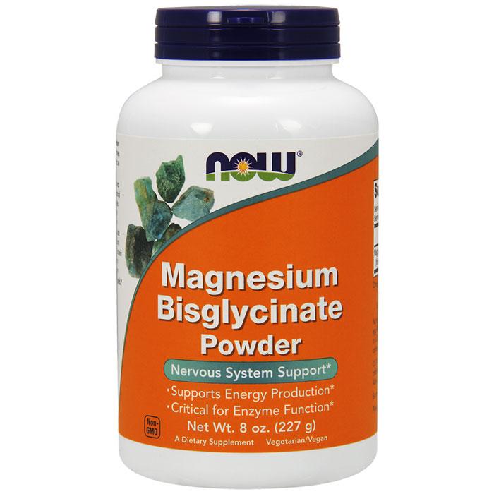 Magnesium Bisglycinate Powder, 8 oz, NOW Foods