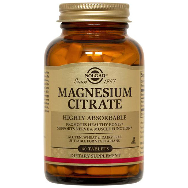 Magnesium Citrate, 60 Tablets, Solgar