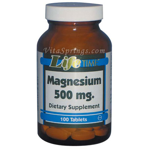 Magnesium from Aspartate Oxide, 500 mg, 100 Tablets, LifeTime