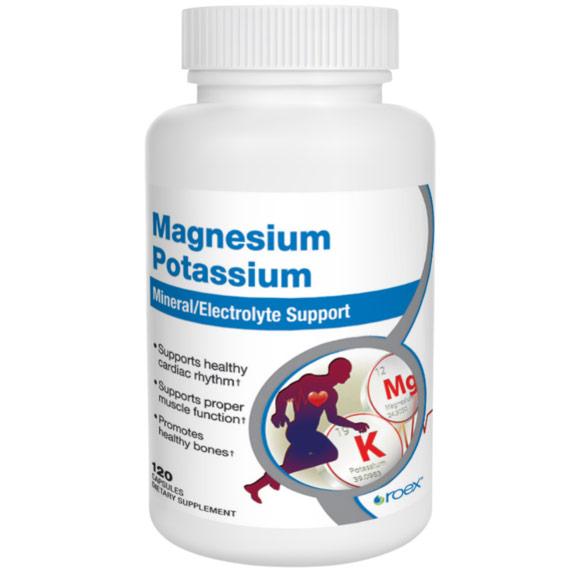 Magnesium Potassium, 120 Capsules, Roex