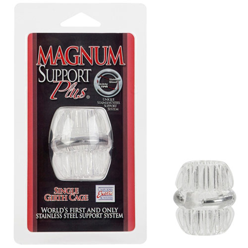 Magnum Support Plus Single Girth Cage, Cock Ring, Clear, California Exotic Novelties