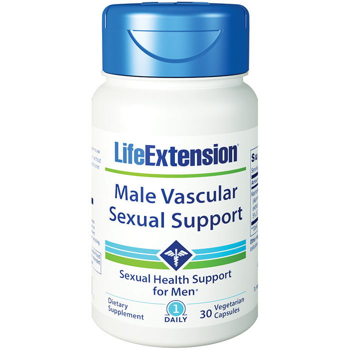 Male Vascular Sexual Support, 30 Vegetarian Capsules, Life Extension